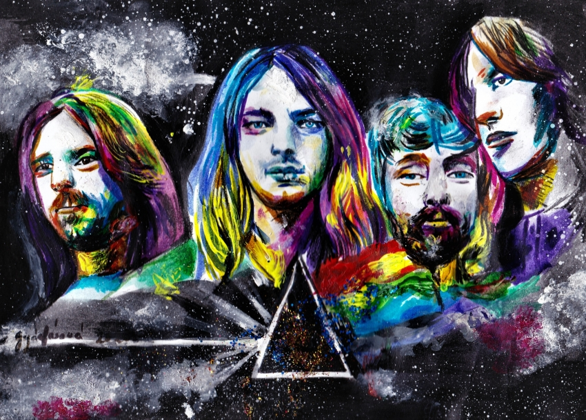 Richard Wright, Nick Mason, Roger Waters, David Gilmour, Pink Floyd by lilie1111
